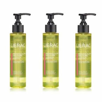 Lierac Cleansing Oil Makeup Remover for Face & Eyes, 5 Oz (Pack of 3) + Schick Slim Twin ST for Sensitive Skin