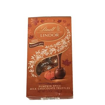Limited Edition Lindt Lindor Pumpkin Spice Milk Chocolate Truffles! One 5.1 Oz Bag! Delicious Fall Treat!