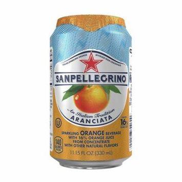 Nestle Waters North America 43345 11.15 oz Can, Sparkling Fruit Beverages, Aranciata or Orange