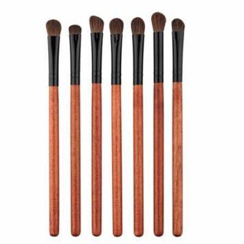 7Pcs Fashion Blending Eye Shadow Brush Make Up Tool Applicator Red Wood