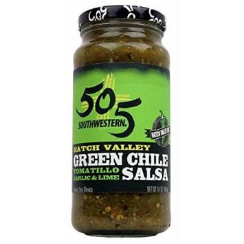 Results 505 Southwestern Hatch Valley Green Chile Salsa (Tomatillo, Garlic and Lime) 3 Pack