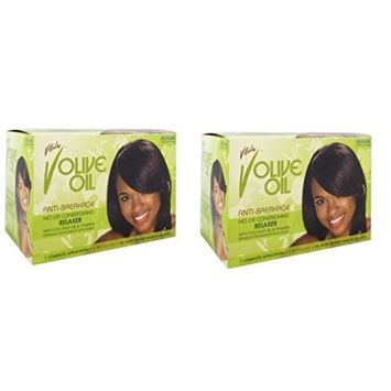 [ LIMITED PACK OF 2] VITALE OLIVE OIL ANTI-BREAKAGE CONDITIONING RELAXER REGULAR: Beauty