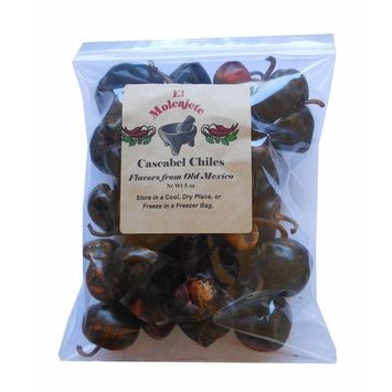 Cascabel Chiles Dried 5 Oz Resealable Bag ‐ Mexican Recipes, Chilis, Tamales, Salsa, Chili, Meats, Soups, Mole, Stews & BBQ by El Molcajete