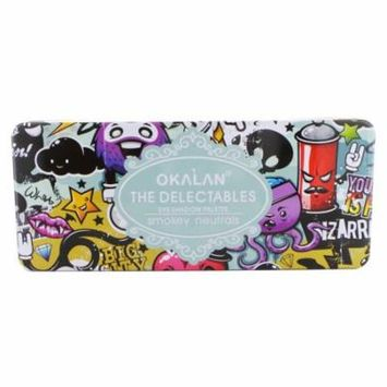 (3 Pack) OKALAN The Delectables Eyeshadow Palette A - Smokey Neutrals