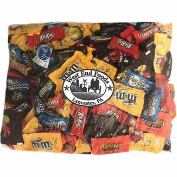 Chocolate Candy Bulk Variety Pack Reeses Peanut Butter Cups Snickers Bars York Peppermint Patties Twix Almond Joy Kit Kat M&Ms Peanut M&Ms Milk Chocolate 100 Grand Bars Milky Way (90oz assortment)