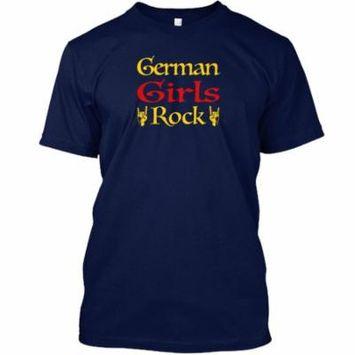 German Girls Rock V1 Hanes Tagless Tee T-Shirt