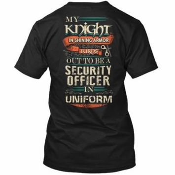 Cute Security Officer's Lady Shirt Hanes Tagless Tee T-Shirt