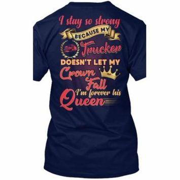 Cute Trucker's Lady Shirt Hanes Tagless Tee T-Shirt