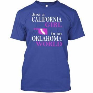 California Girl in Oklahoma Hanes Tagless Tee T-Shirt
