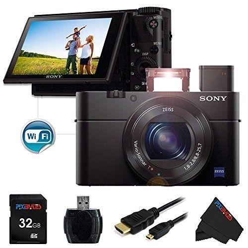 Sony DSC-RX100 Mark III Cyber-shot Digital Still Camera + 32GB Pixi-Basic Accessory Bundle