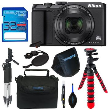 Nkon Nikon COOLPIX A900 Digital Camera (Black) + Pixi-Basic Bundle