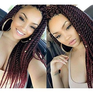 UNA 12nch Senegalese Twist Crochet Hair Short Braids Small Havana Mambo Twist Crochet Braiding Hair Senegalese Twists Hairstyles For Black Women 22strands/pack