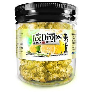 Lemon Squeeze 50G Ultra Premium Beamer Ice Drops ¨ Hookah Shisha Smoking Gel. Each bowl lasts 2-4 Hours! USA Made, Huge Clouds, Amazing Taste! Better Taste & Clouds than Tobacco! 2-3 bowls per Jar!