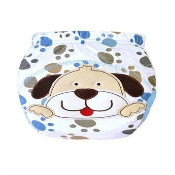 Baby Toddler Training Panties Cute Reuseble Cotton Cartoon Potty Nappy (80 (S), Dog)