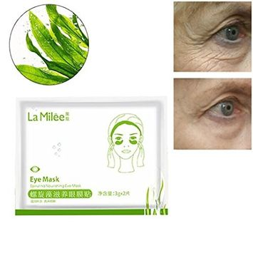 Hunputa 10 Pairs Gel Spirulina Eye Mask Spirulina Pads For Women Natural Eye Patches With Anti-aging and Wrinkle Care Properties/Help Reduce Dark Circles and Puffiness
