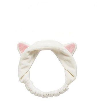 1Pcs Lovely Cat Ears Headband Bandeau Hairlace Headgear Headwear for Decoration Makeup or Wash Face(Pink Ears)