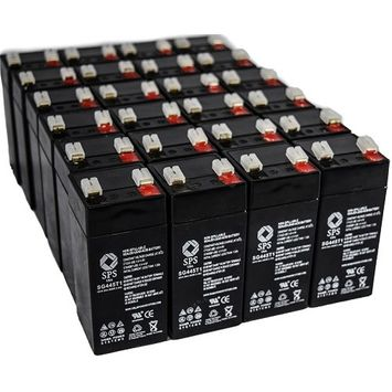 SPS Brand 4V 4.5ah Replacement battery for Dual-Lite 12-581 (50 PACK)