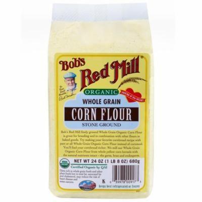 Bob's Red Mill, Organic, Whole Grain Corn Flour, 24 oz (pack of 2)