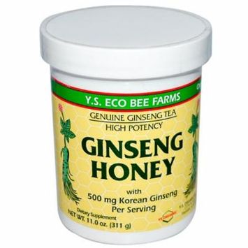Y.S. Eco Bee Farms, Ginseng Honey, 11.0 oz (pack of 2)