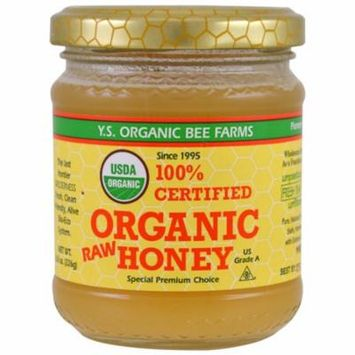 Y.S. Eco Bee Farms, 100% Certified Organic Raw Honey, 8.0 oz (pack of 12)