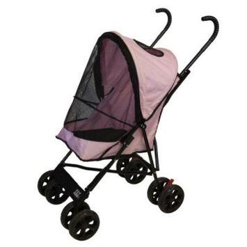 Pet Gear 15.5 in. x 11 in. x 23 in. Pink Travel Lite Pet Stroller