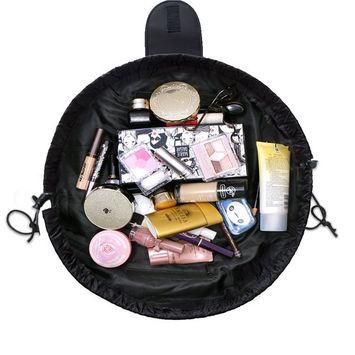 Fashion Cosmetic Bag Large Capacity Lazy Makeup Toiletry Bag Multifunction Storage Portable Quick Pack Waterproof Travel Bag