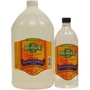 Durkee Clear Imitation Vanilla Flavor - 32 oz. bottle, 6 per case