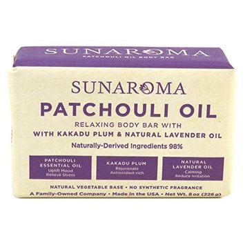 Sunaroma Soap Bar Patchouli 8 Ounce (236ml) (2 Pack)