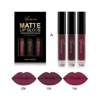 SHERUI Lipstick ,Liquid Matte Lipstick,Womens Matte Lipgloss Ladies Colorful Makeup Lipstick Set of 3