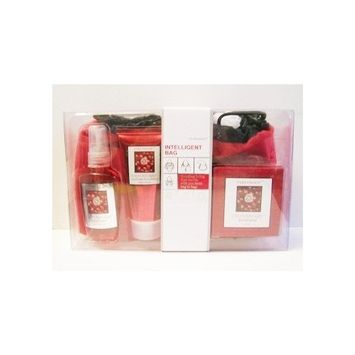 Pure Passion Cranberry Bath & Body Gift Set with Bag, Set of 4