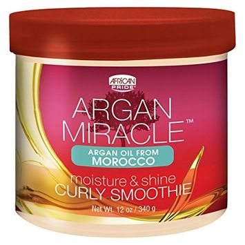 African Pride Argan Miracle Curly Smoothie, 12 Ounce