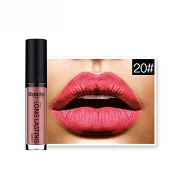 Kanzd Waterproof Matte Metallic Liquid Lipstick Long Lasting Lip Gloss Lipstick Cosmetics