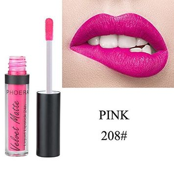 Kanzd PHOERA Velvet Matte To Glitter Liquid Lipstick Waterproof Lip Gloss Makeup