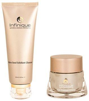Infinique Eye Contour Anti-Aging Crà me & Micro Seed Exfoliant Cleanser