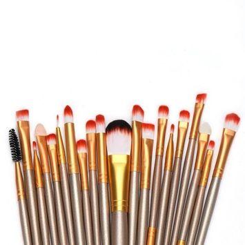 Creazy® 20 pcs Makeup Brush Set tools Make-up Toiletry Kit Wool Make Up Brush Set