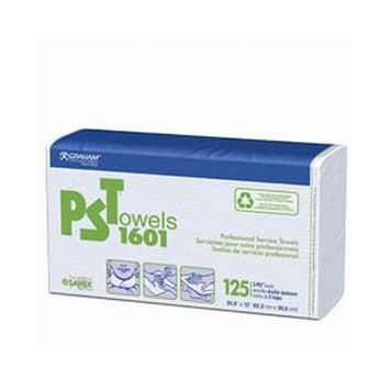Graham Pst Pro Svc Towels Smooth 2 Ply White (Box of 125)