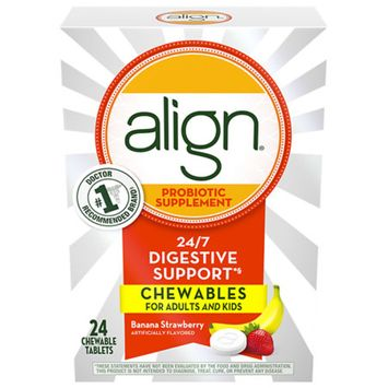 Align Probiotic Supplement Chewables Banana Strawberry Smoothie