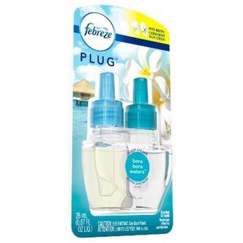 Febreze Plug Bora Bora Water Scented Air Freshener Refill - 0.87 fl oz