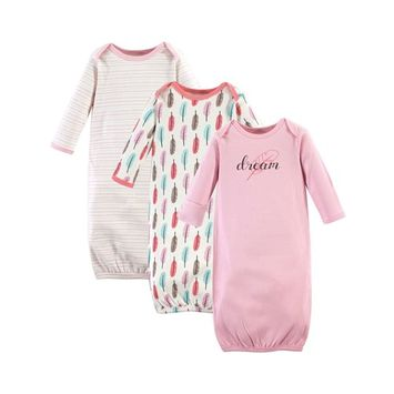Touched By Nature Organic Cotton Gowns, 3-Pack, 0-6 Months