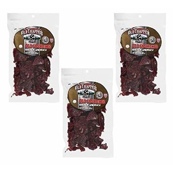 Trapper Naturally Smoked Beef Jerky 10oz, Peppered (Pack of 3)
