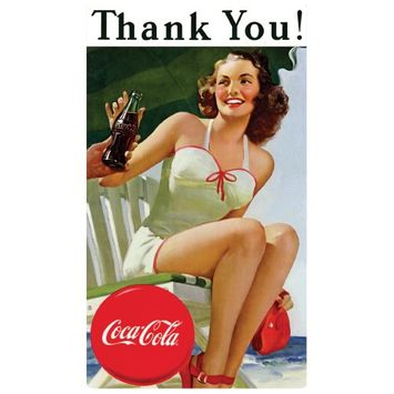 Ande Rooney Coca-Cola ® Thank You Beauty Magnet