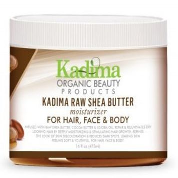 Kadima Raw Shea Butter for hair, face, and body. Unrefined, 100% Pure Raw Shea Butter – Skin Nourishing, Moisturizing & Healing 16 oz