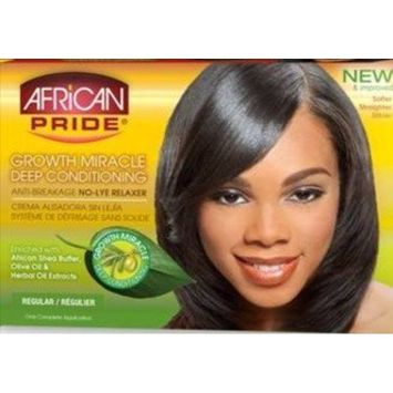 African Pride Olive Miracle Conditioning Anti-Breakage No Lye Relaxer Regular Case Pack 12