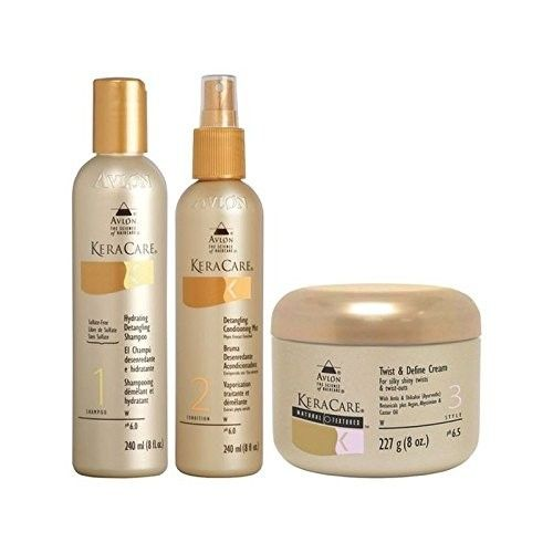 Keracare Detangling Shampoo And Conditioner Duo With Natural Textures Twist And Define Cream (Pack of 6)