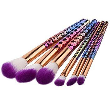 Start 6pcs/Sets Multicolor Makeup Brush Set for Eye Shadow Foundation Eyebrow Lip