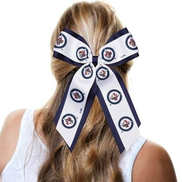 Winnipeg Jets Jumbo Cheer Ponytail Holder - No Size