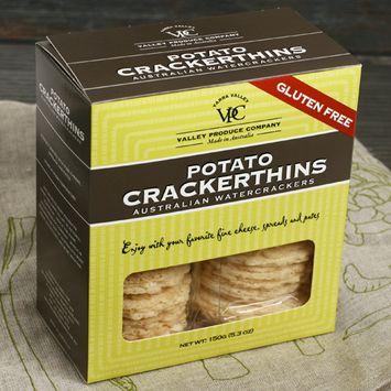 Gluten Free Crackerthins Australian Potato Crackers - Potato and Rosemary