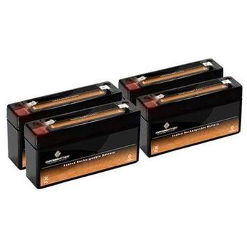 6V 3.4AH Sealed Lead Acid (SLA) Battery - T1 Terminals - for ZB-6-3.4 - 4PK - S00023-4PK-00000