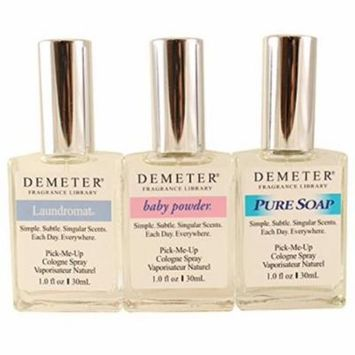 3 Pack - Demeter Fresh & Clean Collection 3-Piece Gift Set 1 ea