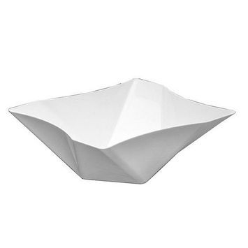 1 - Party Essentials 161 Oz. Twisted Square Serving Bowls - White